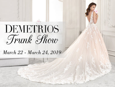 NEW Set of Demetrios Wedding Dresses Coming to Lotus Bridal Long Island from March 22nd to 24th