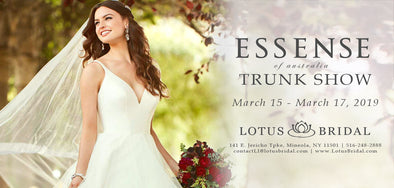 Essense of Australia Trunk Show at Lotus Bridal Long Island from 3/15-3/17