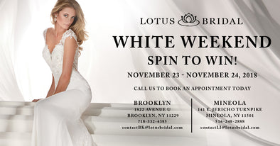 Spin to Win at Lotus Bridal's White Weekend