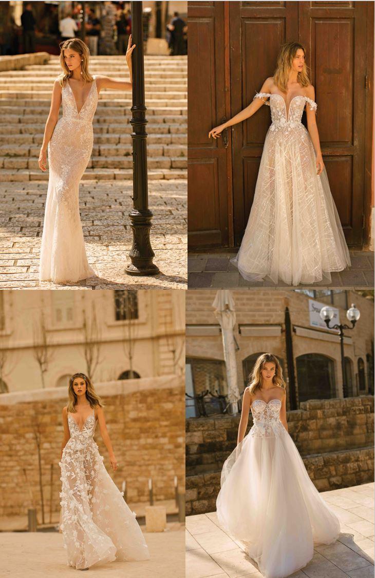 Lotus Bridal Berta Wedding Dress Collage 2