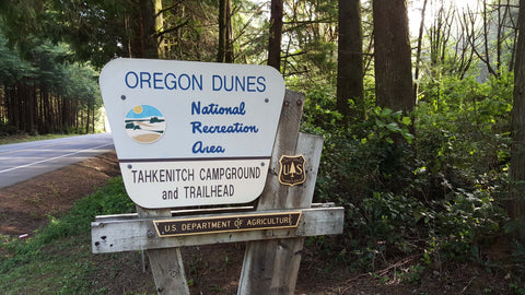 Oregon Dunes National Recreation Area Threemile Lake Trail Sign