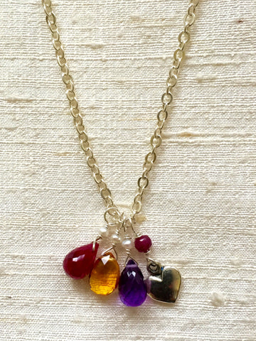 A Birthstone Necklace (custom made, price varies)