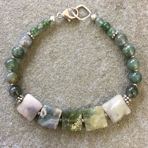 Terra Bracelet - Down by the Brook (ocean jasper)