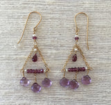 Flying Trapeze: Lilac Season (amethyst & pink tourmaline)