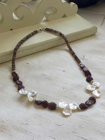 Harmony - Floating on Air (pearls & chocolate moonstone)