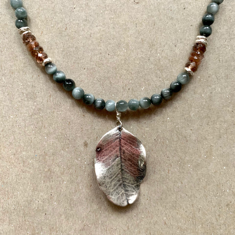One of a Kind - Fall is in the Air (Cat's Eye Quartz & andalusite)
