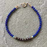 Mix & Match Stacking Bracelet: Lapis Lazuli & Boulder Opal