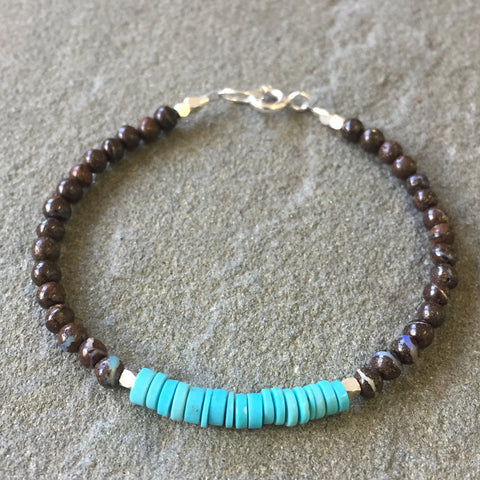 Mix & Match Stacking Bracelet: Boulder Opal & Turquoise