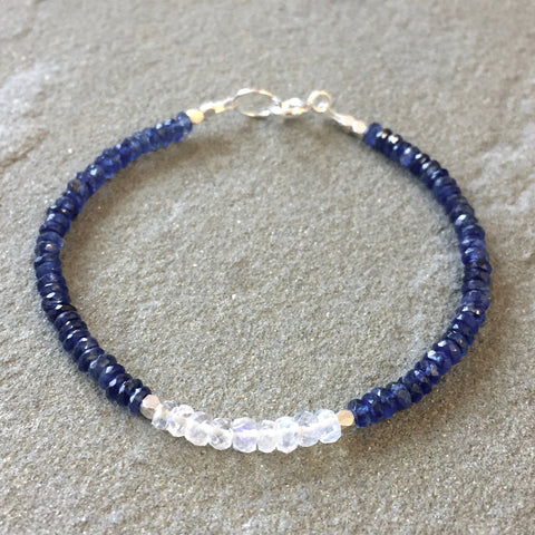 Mix & Match Stacking Bracelet: Kyanite & Moonstone