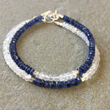 Mix & Match Stacking Bracelet 2: Kyanite & Moonstone