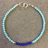 Mix & Match Stacking Bracelet: Turquoise & Lapis Lazuli