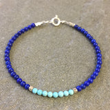 Mix & Match Stacking Bracelet 3: Lapis Lazuli & Turquoise