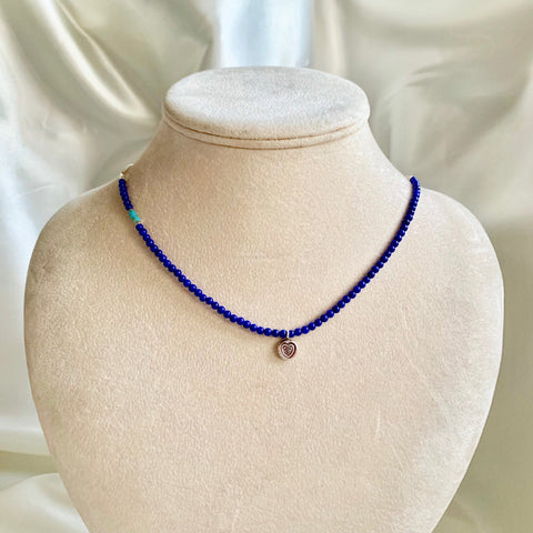 Collar Necklace Matte - Little Spring ~ Love (lapis lazuli)
