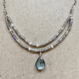 Collar Necklace - Captivated (labradorite & tanzanite)