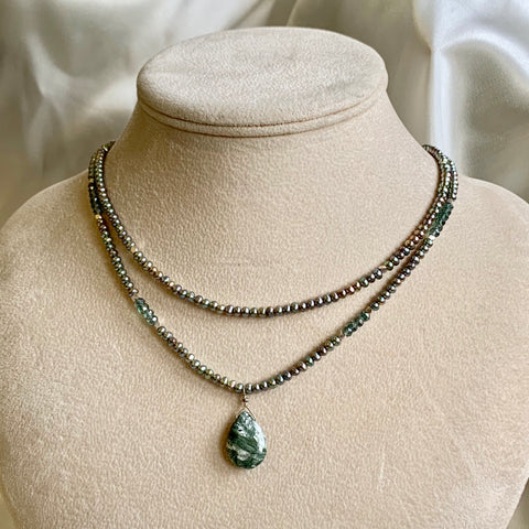 One of a Kind - Light as a Feather (pearl & Seraphinite)