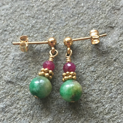 Crimson & Clover Earrings