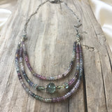 Collar Necklace - Seeing Triple (sapphires)