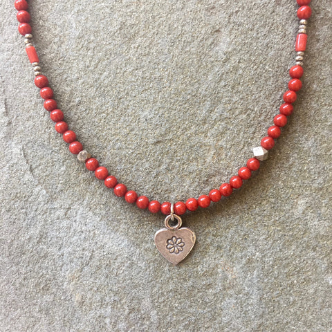Collar Necklace Matte - Steadfast (red jasper)