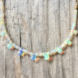 Collar Necklace - Into the Light (Ethiopian opal)