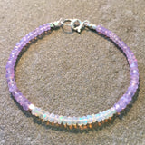Mix & Match Stacking Bracelet: Opal & Lilac Quartz