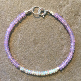 Mix & Match Stacking Bracelet 1: Opal & Lilac Quartz