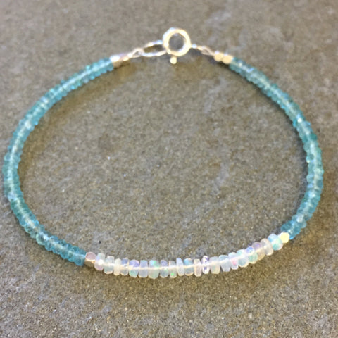 Mix & Match Stacking Bracelet: Opal & Apatite