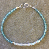 Mix & Match Stacking Bracelet 1: Opal & Apatite