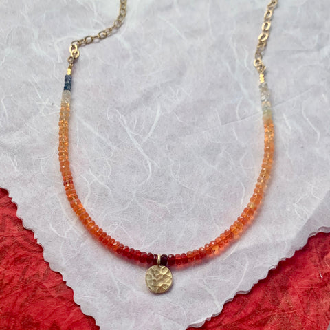 Collar Necklace - Hot Enough? (Fire opal)