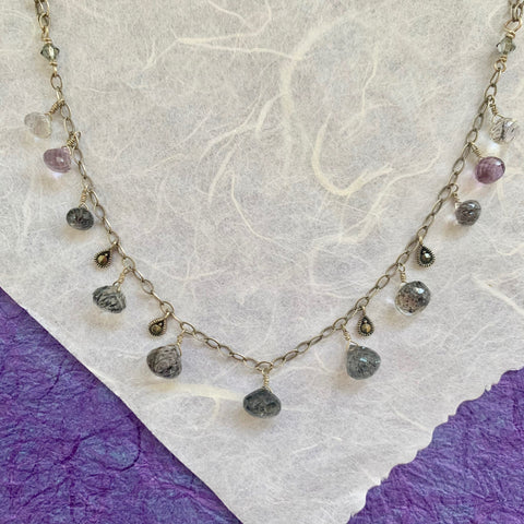 Collar Necklace - Princess (rutilated amethyst)