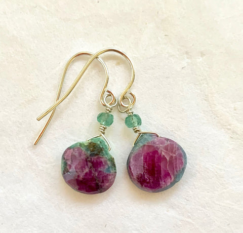Gems - Watermelon Candy Earrings (ruby)