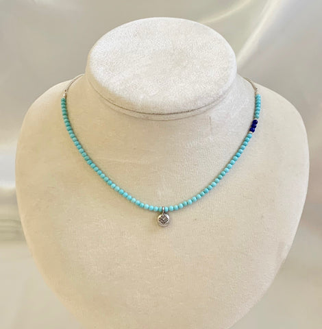 Collar Necklace Matte - Little Spring ~ Faith (turquoise)