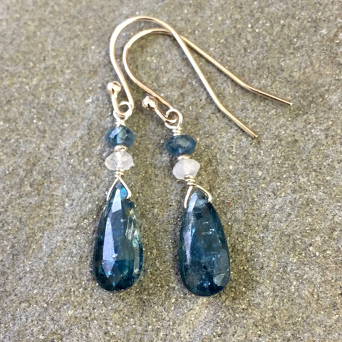 Into the Deep Earrings (Imperial kyanite)