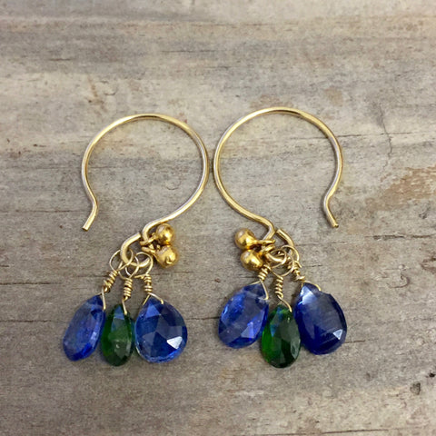Jewel Tone Earrings (kyanite)
