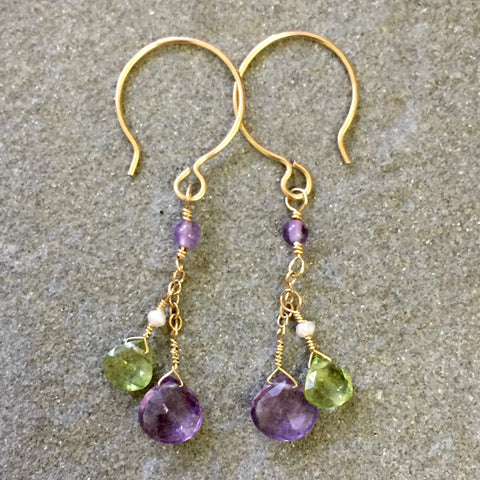 Just in Time for Mardi Gras Earrings