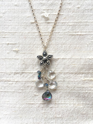 Gem Sparkler - Midnight Moonlight (white and Mystic topaz & marcasite)