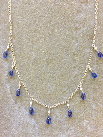 Princess Necklace: Dark Blue Kyanite