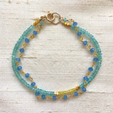 Mix & Match Bracelets: Set Sail (yellow sapphire & apatite)