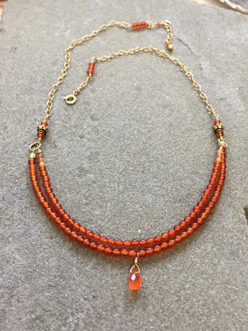 Collar Necklace - Maple (carnelian)