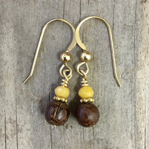 Matte - Sunflower Earrings (aragonite)