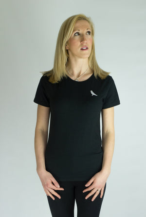 Womens Slim Fit Tee - Black - MAGNI