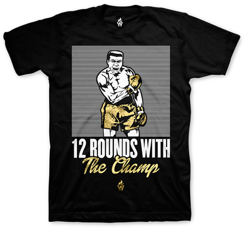 Jordan 12 Wings Muhammad Ali Champ Black T Shirt
