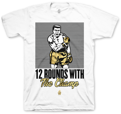 Jordan 12 Wings Muhammad Ali Champ White T Shirt