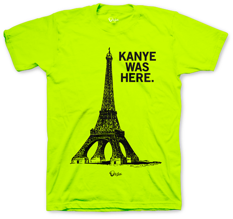 Foamposite Pro Volt Kanye Was Here Safety Green T Shirt