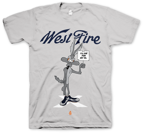 Jordan 10 Bobcat Die For My 10s Silver T Shirt