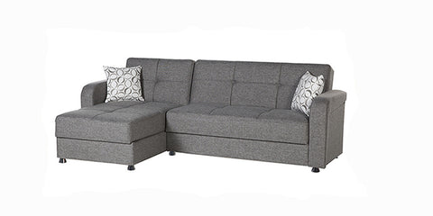 VISION Convertible Sectional - Diego Grey by Sunset Istikbal