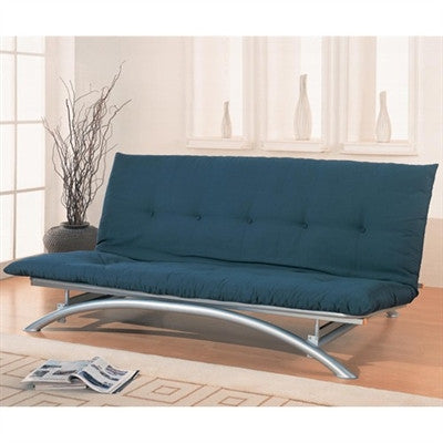 Contemporary Full Size Armless Metal Futon Package by Coaster