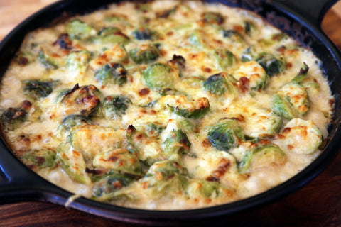Cheesy Brussels Gratin