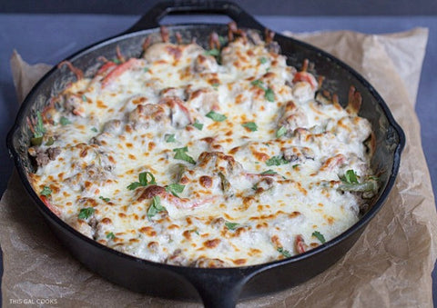 Philly Cheesesteak Gnocchi Casserole