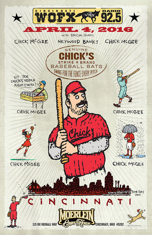 Chick's Poster from Opening Day in Cincinnati 2016 - ONLY 50 LEFT!