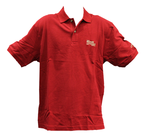 Men's Polo Golf Shirt - Dark Red